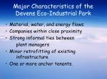 major characteristics of the devens eco industrial park
