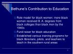 bethune s contribution to education