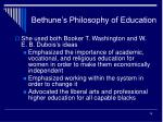 bethune s philosophy of education19