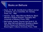 books on bethune