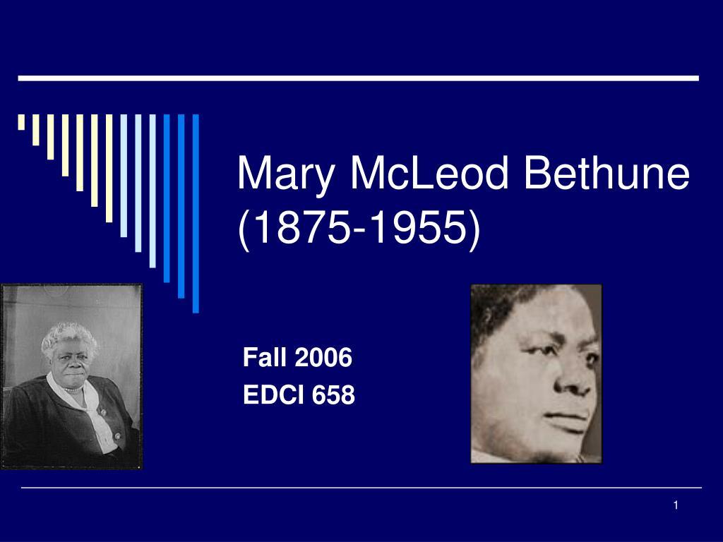 mary mcleod bethune 1875 1955 l.