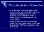 who is mary mcleod bethune cont11