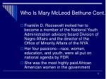 who is mary mcleod bethune cont13