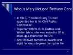 who is mary mcleod bethune cont14