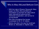 who is mary mcleod bethune cont15