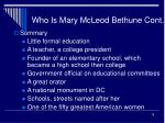 who is mary mcleod bethune cont16