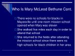 who is mary mcleod bethune cont4