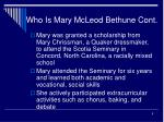 who is mary mcleod bethune cont5
