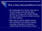 who is mary mcleod bethune cont6
