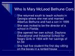 who is mary mcleod bethune cont7
