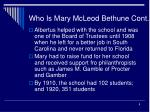 who is mary mcleod bethune cont8