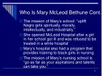 who is mary mcleod bethune cont9