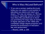 who is mary mcleod bethune