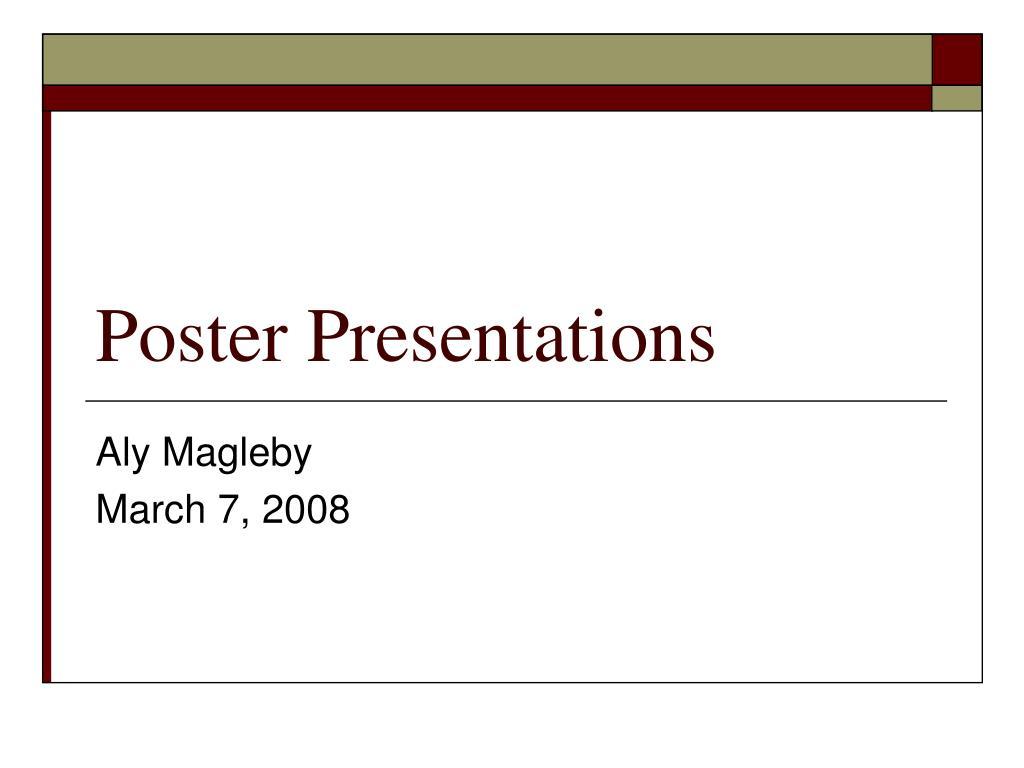 poster presentations l.