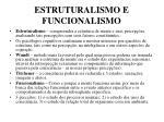 estruturalismo e funcionalismo