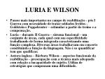 luria e wilson