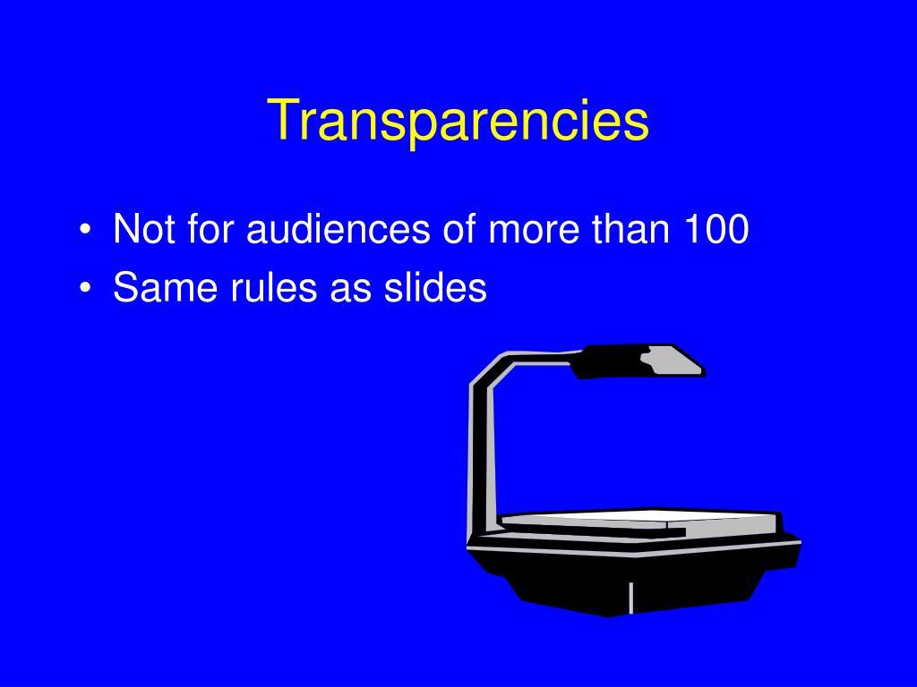 Transparencies