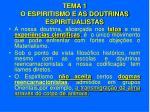 tema 1 o espiritismo e as doutrinas espiritualistas10