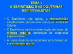 tema 1 o espiritismo e as doutrinas espiritualistas6