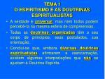 tema 1 o espiritismo e as doutrinas espiritualistas7