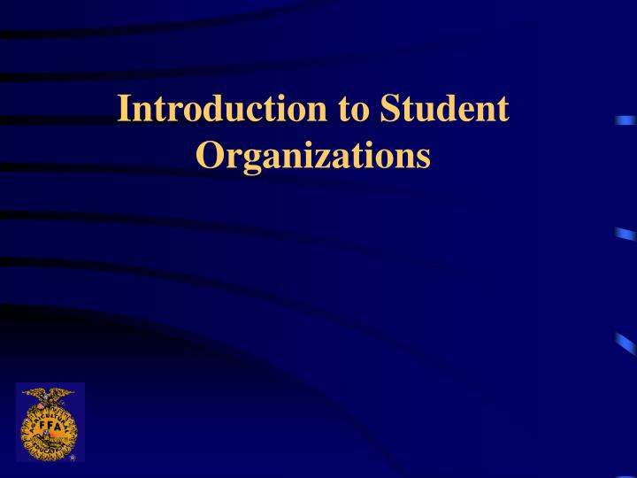 introduction to student organizations n.