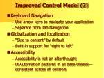 improved control model 3