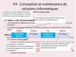 e4 conception et maintenance de solutions informatiques