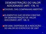 demonstra o do valor adicionado art 176 v