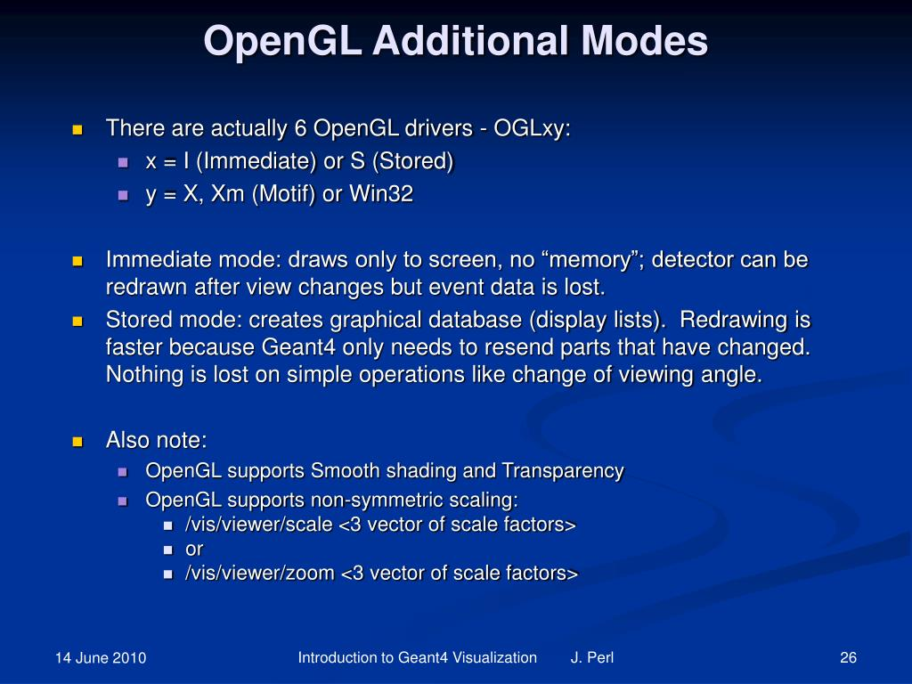 OpenGL Additional Modes