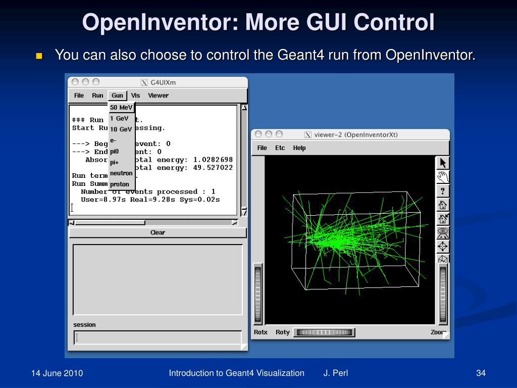 OpenInventor: More GUI Control
