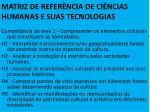 matriz de refer ncia de ci ncias humanas e suas tecnologias