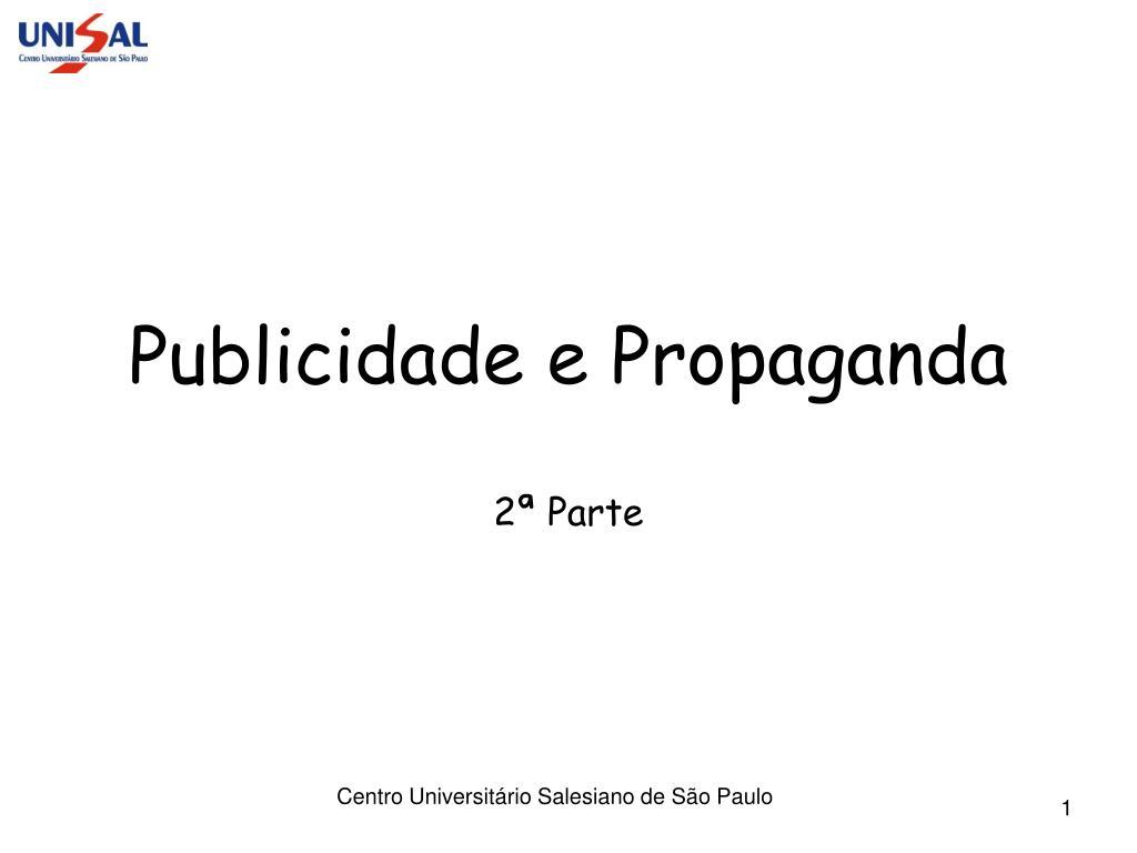 publicidade e propaganda l.