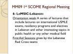 mm09 1 st scome regional meeting16