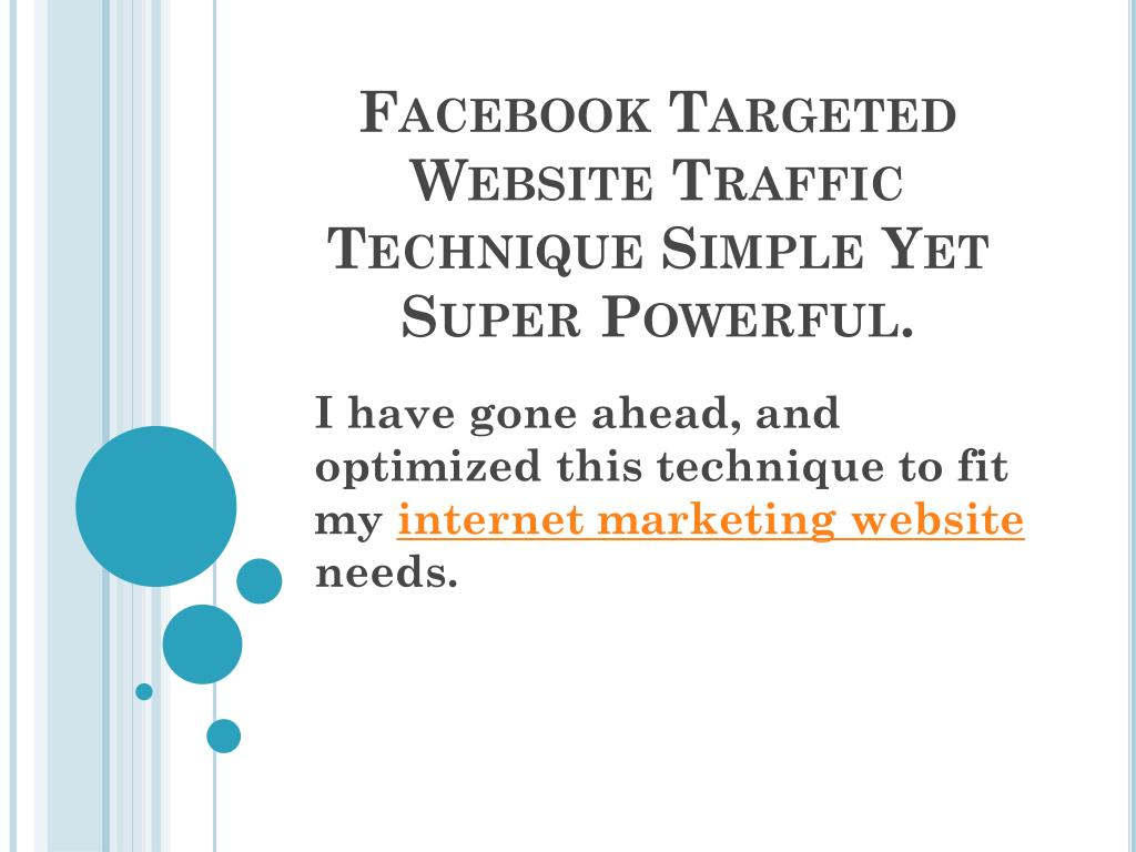 facebook targeted website traffic technique simple yet super powerful l.
