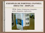 exemples de portfoli pannell did ctic display