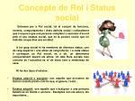 concepte de rol i status social