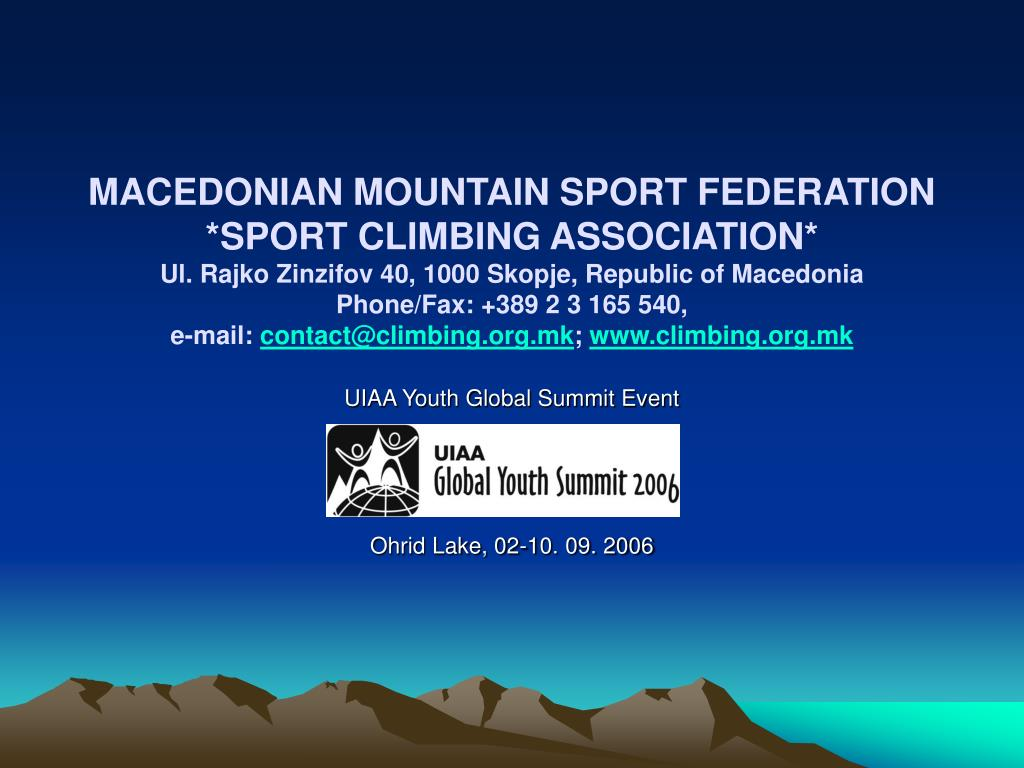 uiaa youth global summit event open routes setter camp ohrid lake 02 10 09 2006 l.