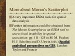 more about moran s scatterplot