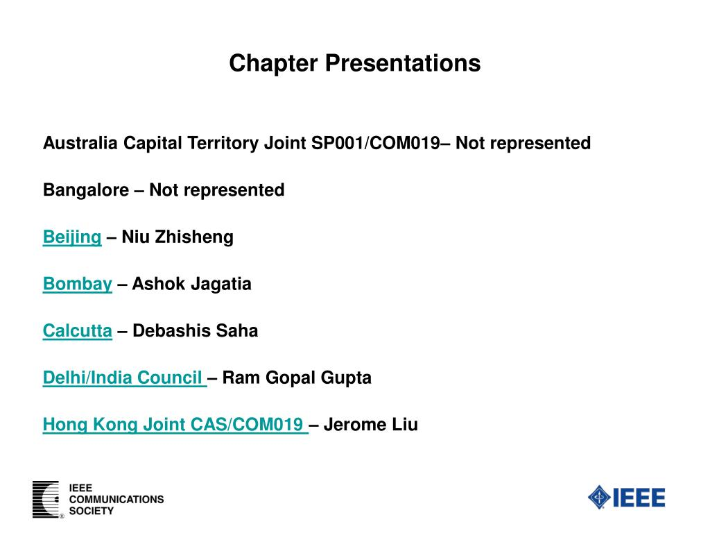chapter presentations l.