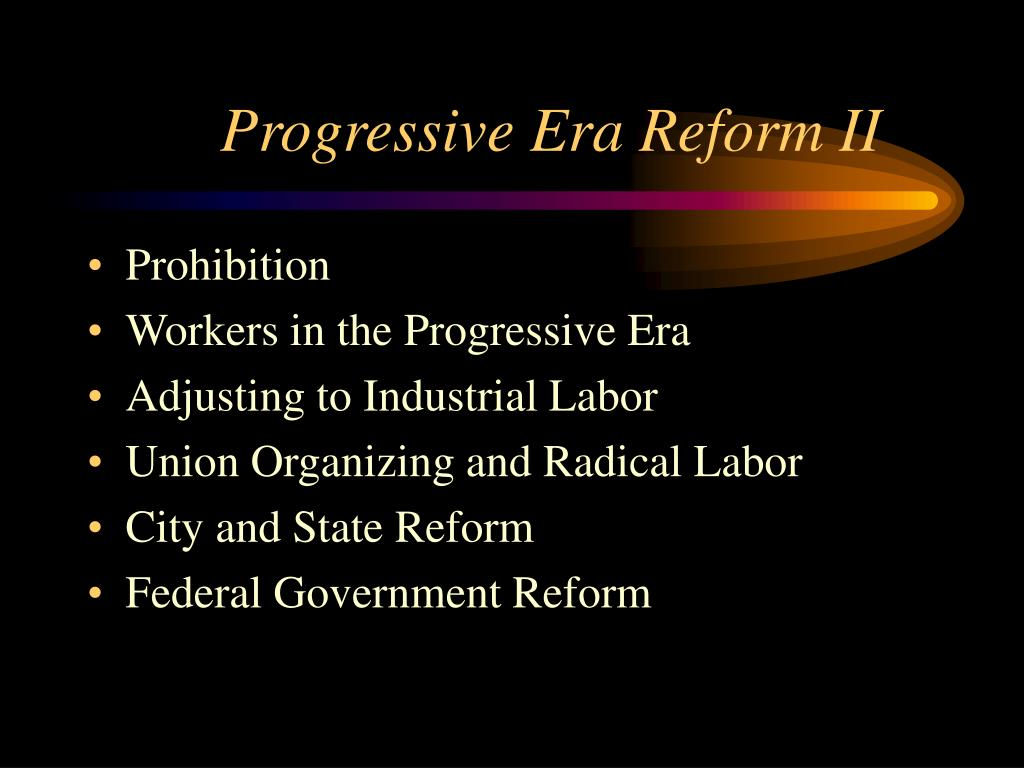progressive era reform ii l.