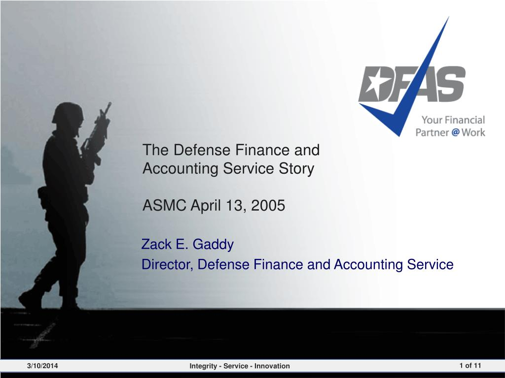the defense finance and accounting service story asmc april 13 2005 l.