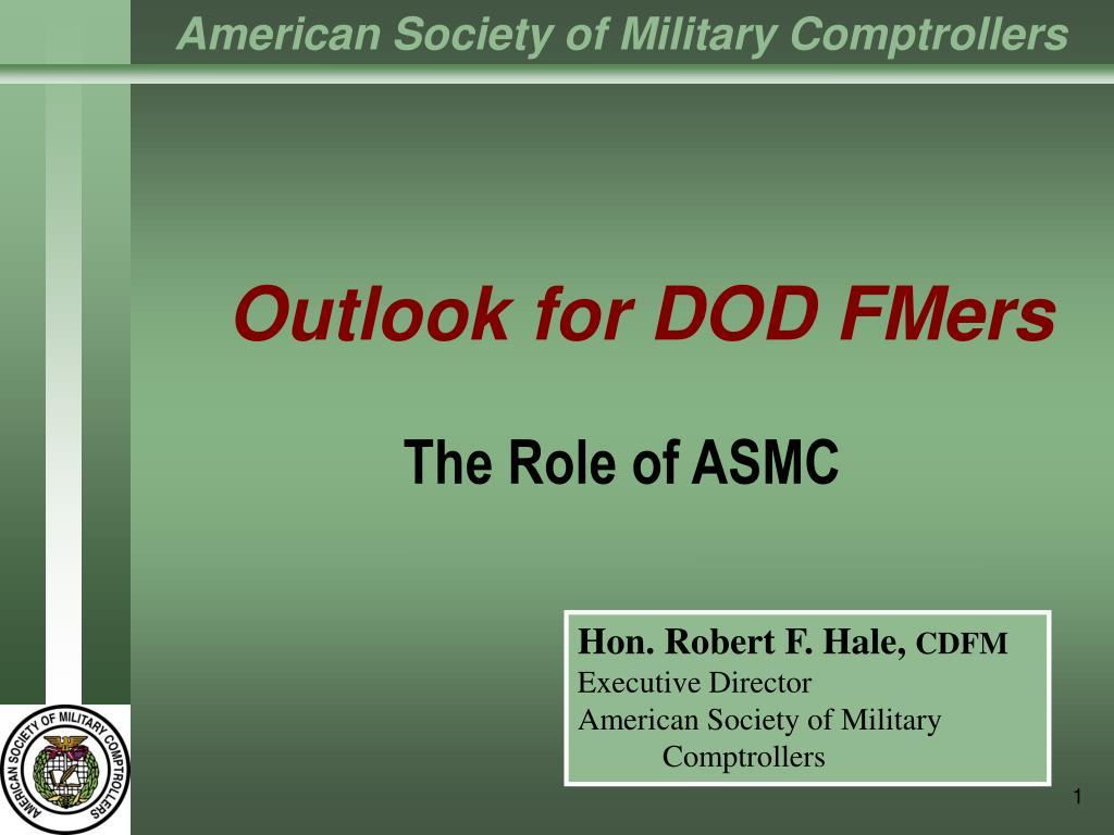 outlook for dod fmers l.