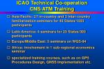 icao technical co operation cns atm training