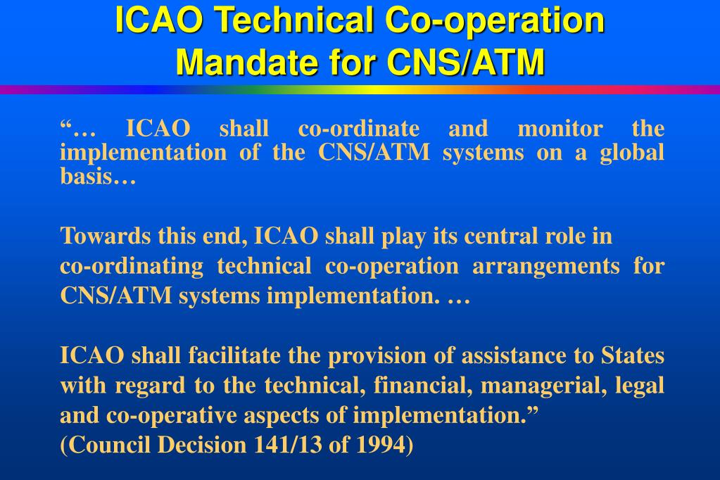 ICAO Technical Co-operation