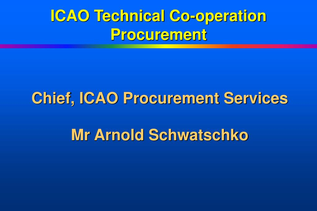 ICAO Technical Co-operation Procurement