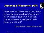 advanced placement ap26