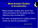 meta analytic studies of acceleration15