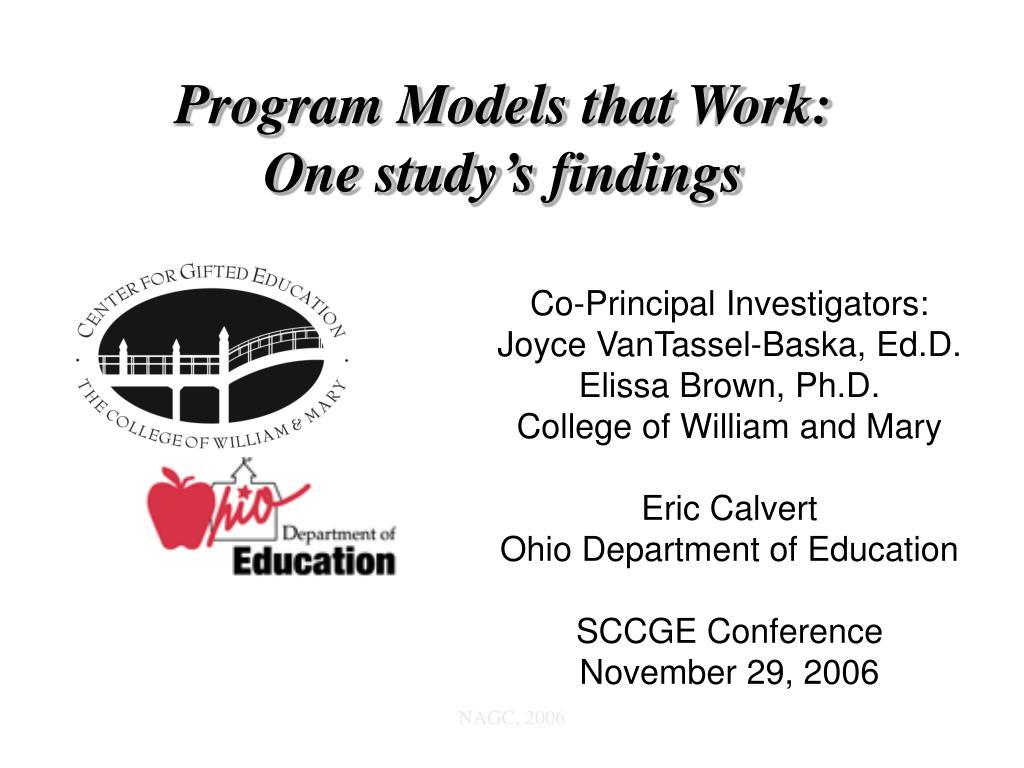 program models that work one study s findings l.