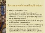 recommendations implications24