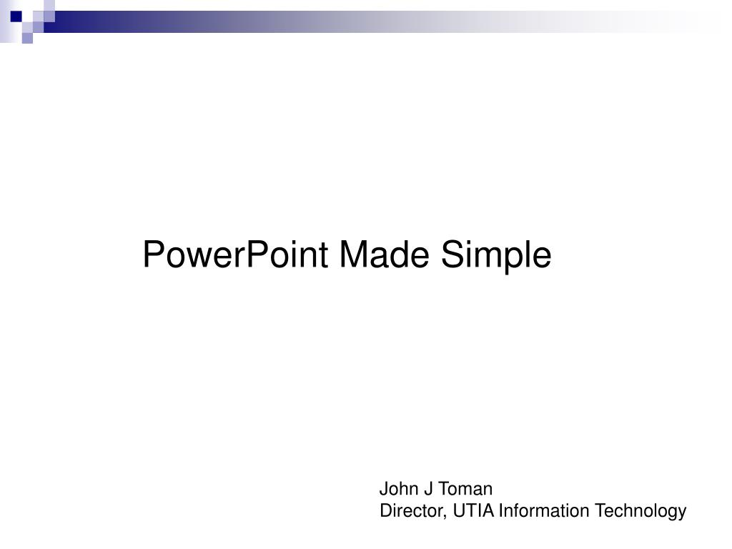 powerpoint made simple l.